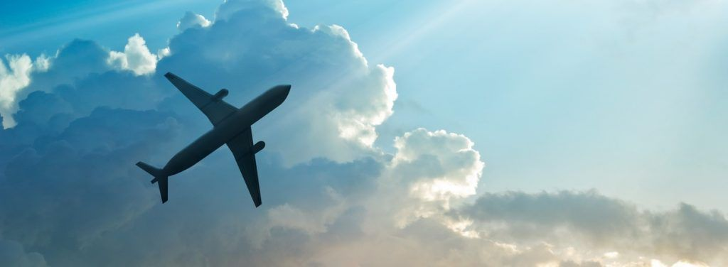 Vliegtuig naar Spanje